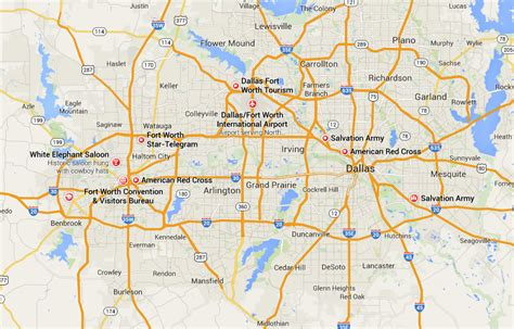 map fort worth texas area map of dallas fort worth world map 07
