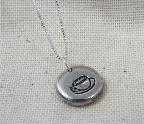 latte necklace coffee necklace latte jewelry coffee