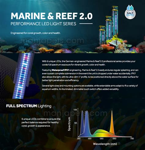 fluval sea 25000k marine and reef light fluval a3993 sea marine reef led 2 0 aquarium light 24