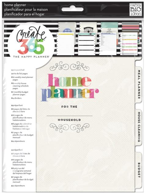 create my home create 365 the happy planner meal planner put to good