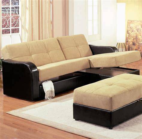 Modern Sectional Sleeper Sofa Kuser Contemporary Chaise Sofa Sleeper Sectional With Storage By Coaster Contemporary