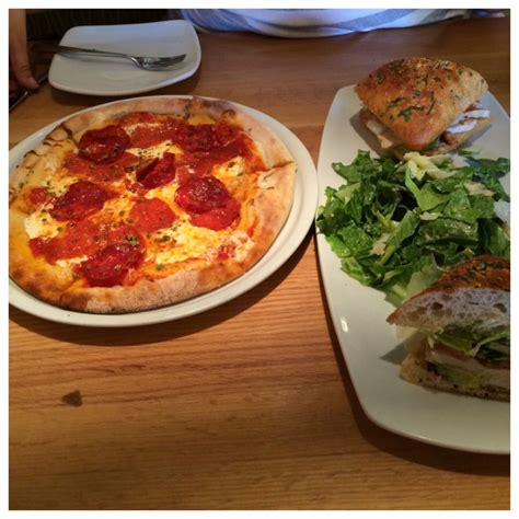 California Pizza Kitchen Slo by Pepperoni Pizza And A California Club Sandwich With Cesar