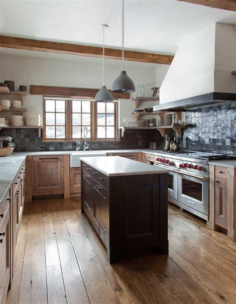 Rustic Chic Kitchen by Rustic Chic Revival In Classic Cabin With Eclectic Details