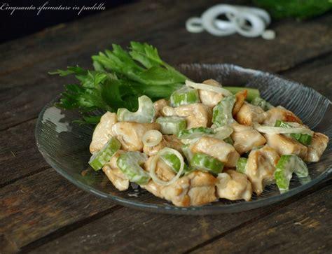 insalata di pollo con sedano insalata di pollo con sedano e cipollotti freschi