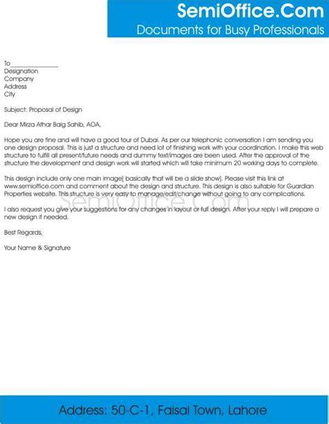 cover letter  sending business proposal  comapany