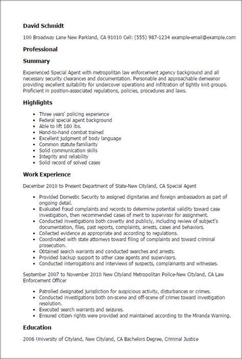 Fbi Special Agent Resume Resume Ideas Fbi Resume Template