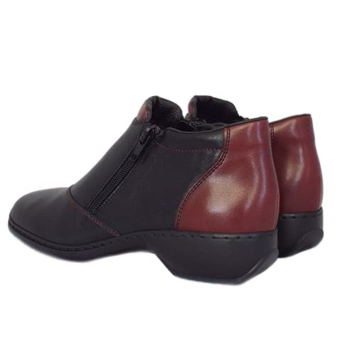 comfortable black ankle boots rieker packwood l3890 00 women s comfortable wide fit