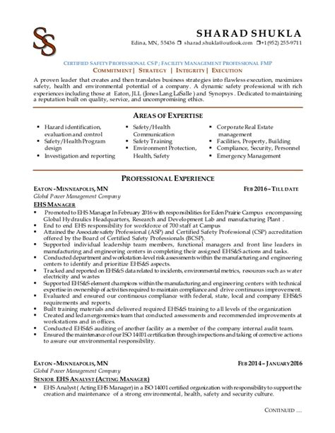 safety professional resume commonpence co