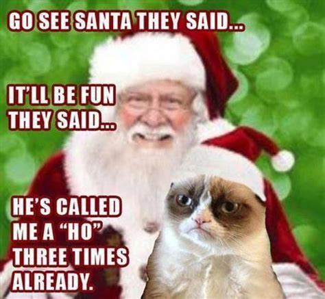 Meme Ho - santa claus gives a warm message funny caption picture