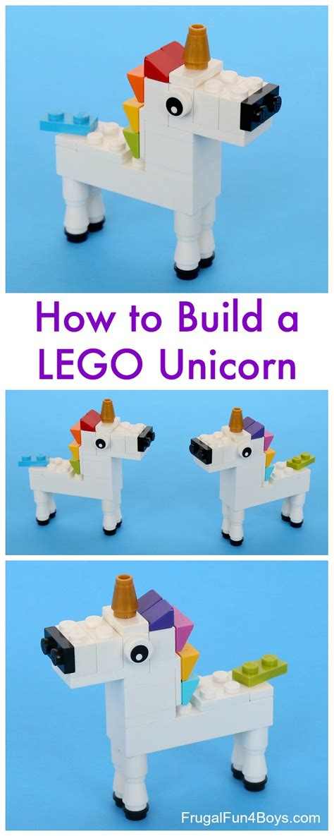 lego unicorn tutorial 5 fun beginner lego animal projects diy thought