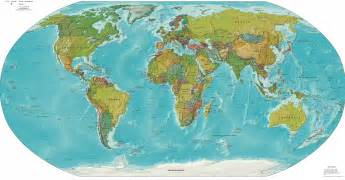 World Map Print by World Maps Tsiosophy Com