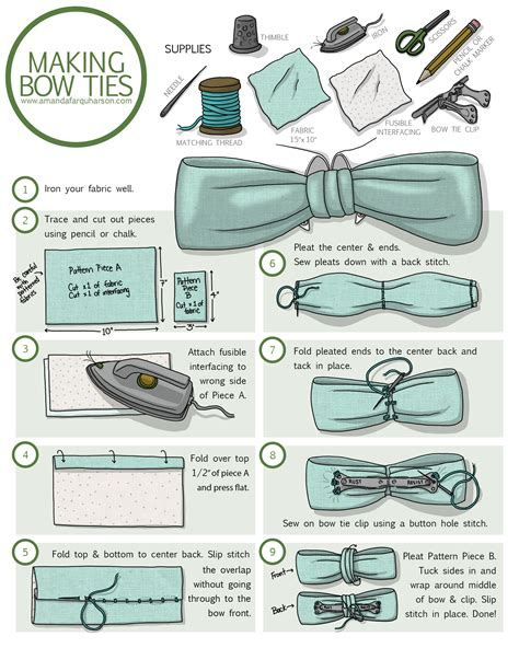 how to make a clip on bow tie amanda farquharson