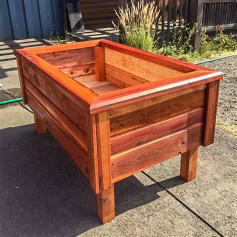Free Standing Planter Boxes by Redwood Planters Raised Garden Beds Redwood Northwest