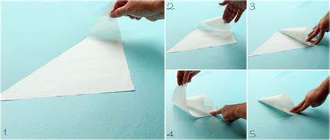 How To Fold A Cone Out Of Paper - parchment paper cones with a how to the bearfoot baker