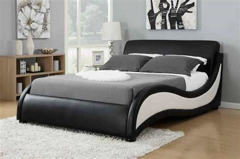 black modern bed modern black and white upholstered bed co 170