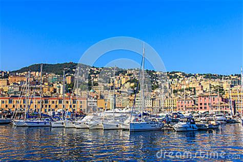 old boat genoa genoa italy sea port with ships and yachts stock images