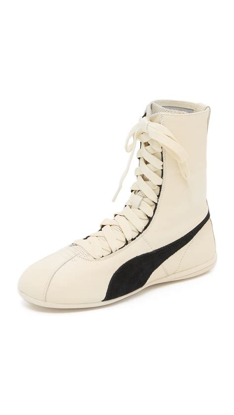 white high top sneakers for eskiva high top sneakers in white lyst