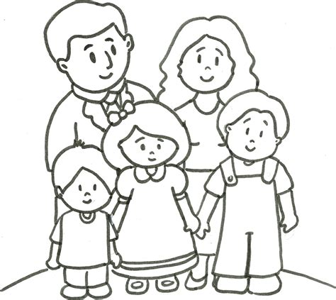 imagenes para dibujar la familia familia para colorir familia para colorir