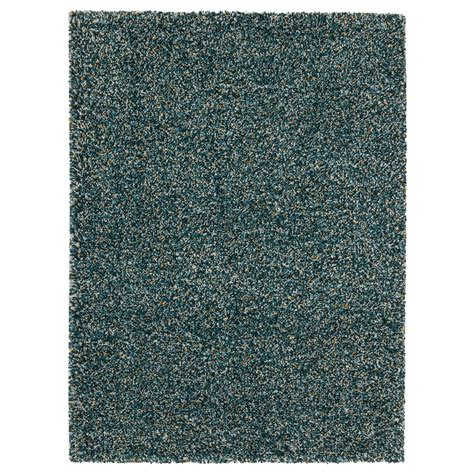 blue green rug vindum rug high pile blue green 133x180 cm ikea