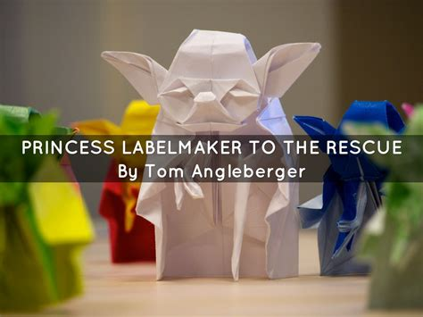 Origami Princess Label Maker - princess labelmaker to the rescue by sadieplayer