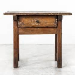 Rustic Side Table 19th Century Rustic Primitive Style Pine Side Table With Drawer At 1stdibs