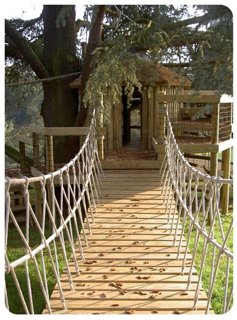 rope swing bridge swinging bridges for treehouses google search garden