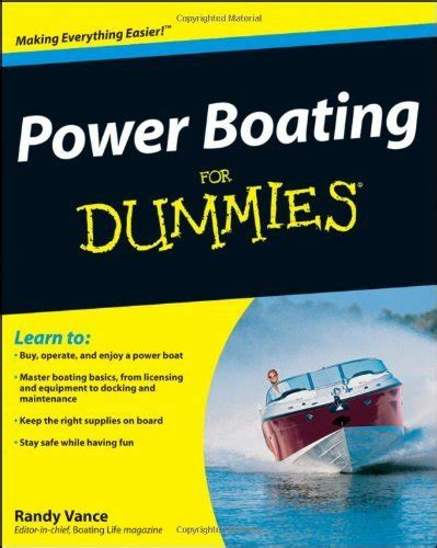 boaters safety guide power boating for dummies pilothouse nautical books and