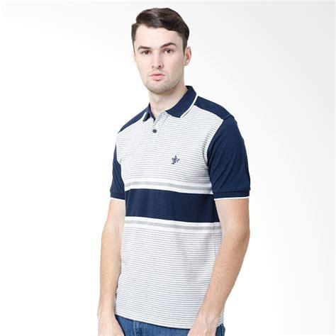 Kaos Pria Stripe jual osella stripe shirt kaos polo pria navy