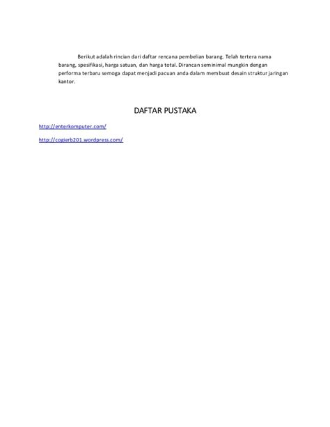 proposal desain jaringan proposal pengajuan jaringan kantor febrysan 125623251