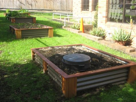 worm beds worm tower in a raised bed outdoors pinterest