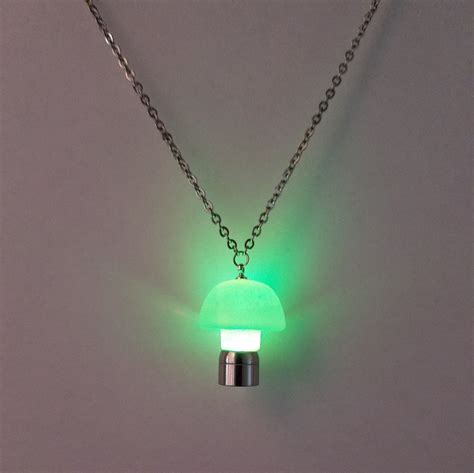 led light necklace led light up pendant necklace glow