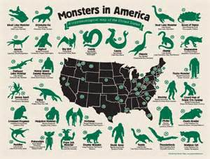map of bigfoot sightings in the united states monsters in america a cryptozoological map of the usa