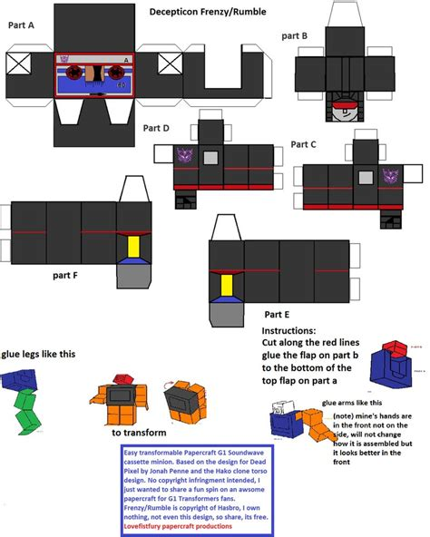 Deviantart Papercraft - paperformer frenzy rumble by lovefistfury deviantart