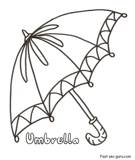 printable umbrella template for preschool printable umbrella coloring in pages for preschool