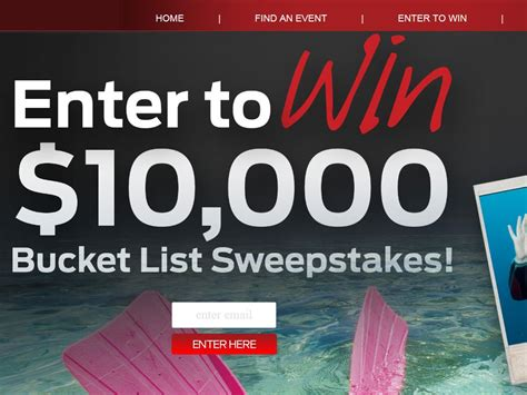 Enter To Win Sweepstakes 2014 - the 2014 mustang bucket list sweepstakes