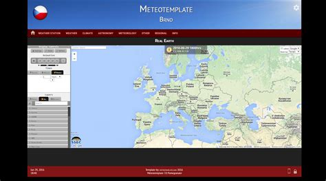Meteotemplate Free Weather Website Template Free Weather Website Templates