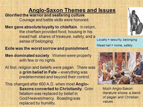 themes in anglo saxon literature old english literature of the anglo saxon period 449