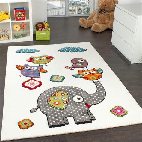 kinder teppiche kinderzimmer teppich niedliche bunte zootiere eulen mit