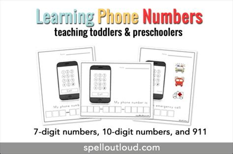 telephone pattern kindergarten learning telephone numbers printable spell out loud
