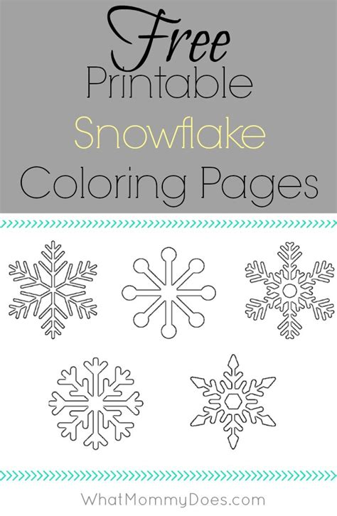 small snowflake coloring page free printable snowflake coloring pages