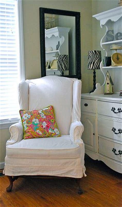 wingback chair slipcover diy great blog for diy slipcovers home pinterest