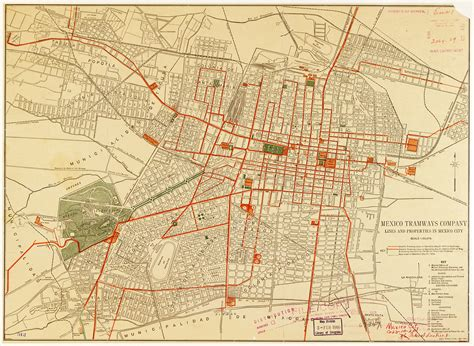 mexico in the map historical map mexico tramways company lines