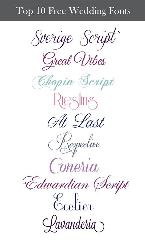 Wedding Font by Inspiration Wednesday Free Wedding Fonts Perpetually