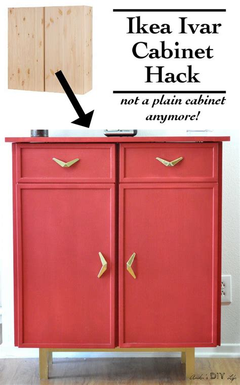 Ivar Cabinet Hack | can you believe this is an ikea ivar cabinet hack diy