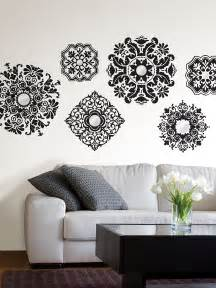 Black And White Wall Stickers Baroque Black And White Wall Decals Poptalk