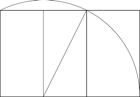 golden section rectangle construction of a golden rectangle clipart etc
