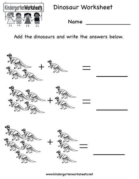 kindergarten dinosaur worksheet printable occupational