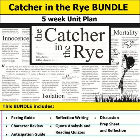 catcher in the rye anticipation guide reflection english language arts unit plans