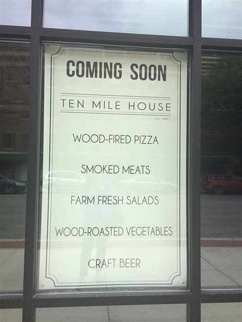 ten mile house quot ten mile house quot restaurant coming to central street in evanston
