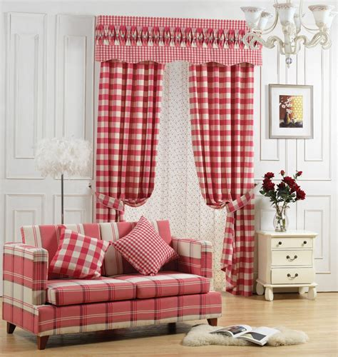 Plaid Curtains For Living Room Plaid Blackout Curtains For Living Room Balcony Valance Drapes Fabric For Curtain Blinds